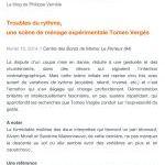 Troubles du rythme - blog Philippe Verriele